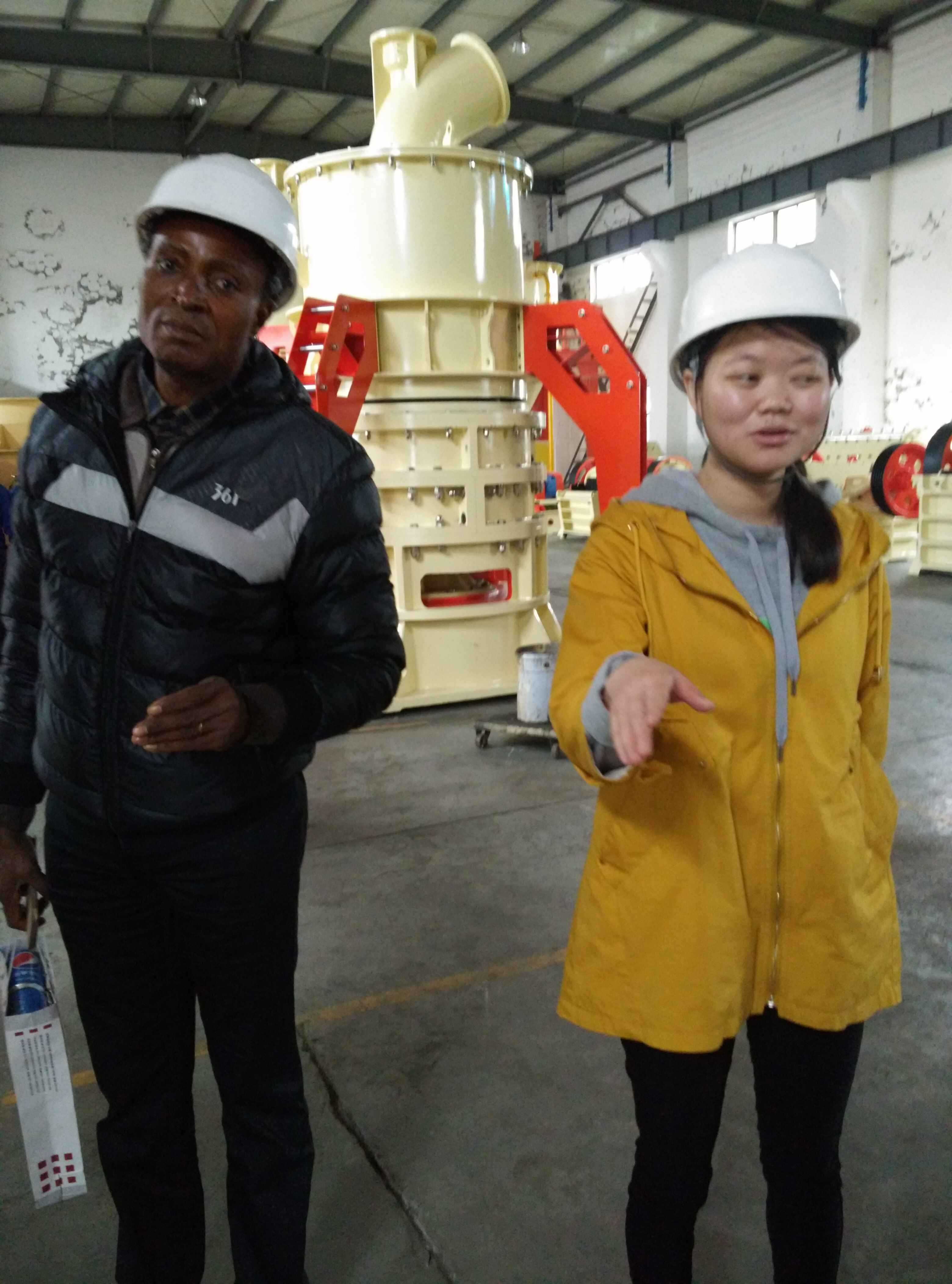 Indian Customer Visit our Ultrafine Grinding Mill