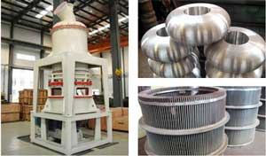 Diatomaceous earth grinding machine